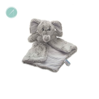 """Aurora Baby - Super plush 16"""" Elvin Elephant Luvester / Lovie. Make him extra special by personalizing him with your child's name. Perfect nap time toy."""