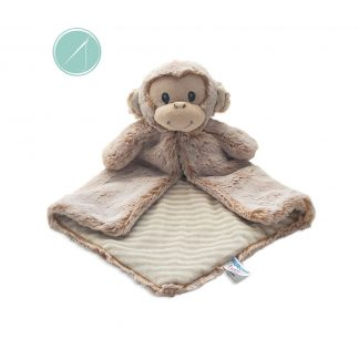 "16"" Supersoft Marloe Monkey Cuddler Luvester Baby blanket from Aurora"