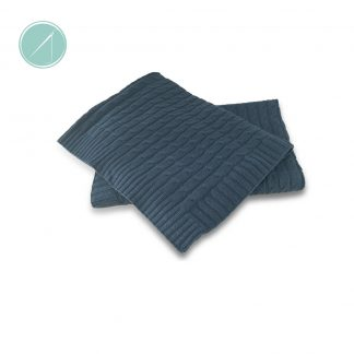 Tots on Fifth Navy Cable Knit Blanket