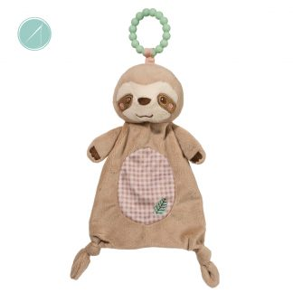 Douglas toys silly little sshlumpie sloth teether toy