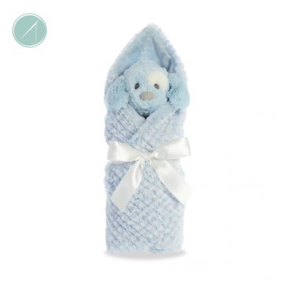 Little Pitter Pattern - Puppy Rattle and Blanket - Ebba