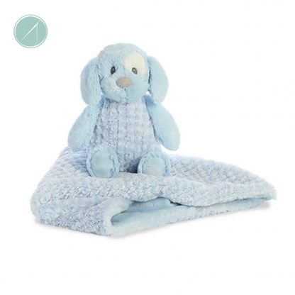 """Little Pitter Pattern - Pup Rattle 8.5"""" & Swaddle 18"""""""